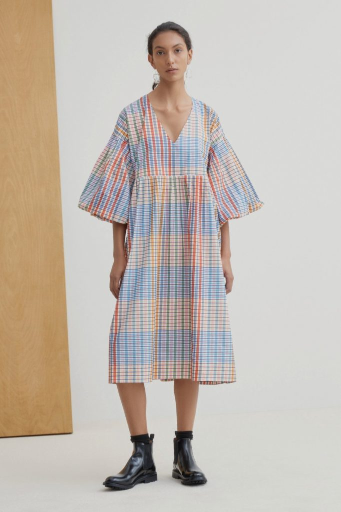colorfull sustainable dress from Kowtow