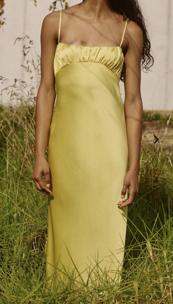 yellow sustainable dress for weddings