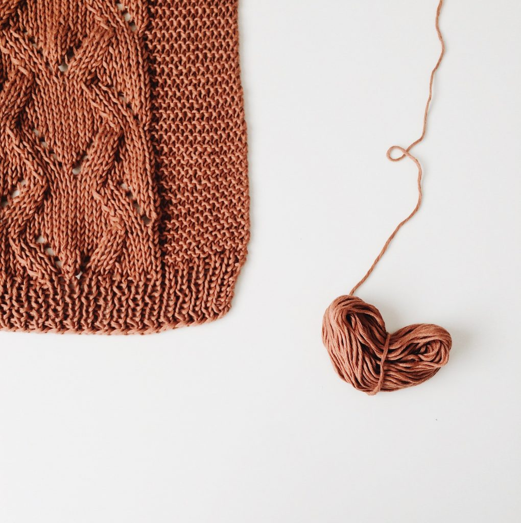 eco knitwear in brown