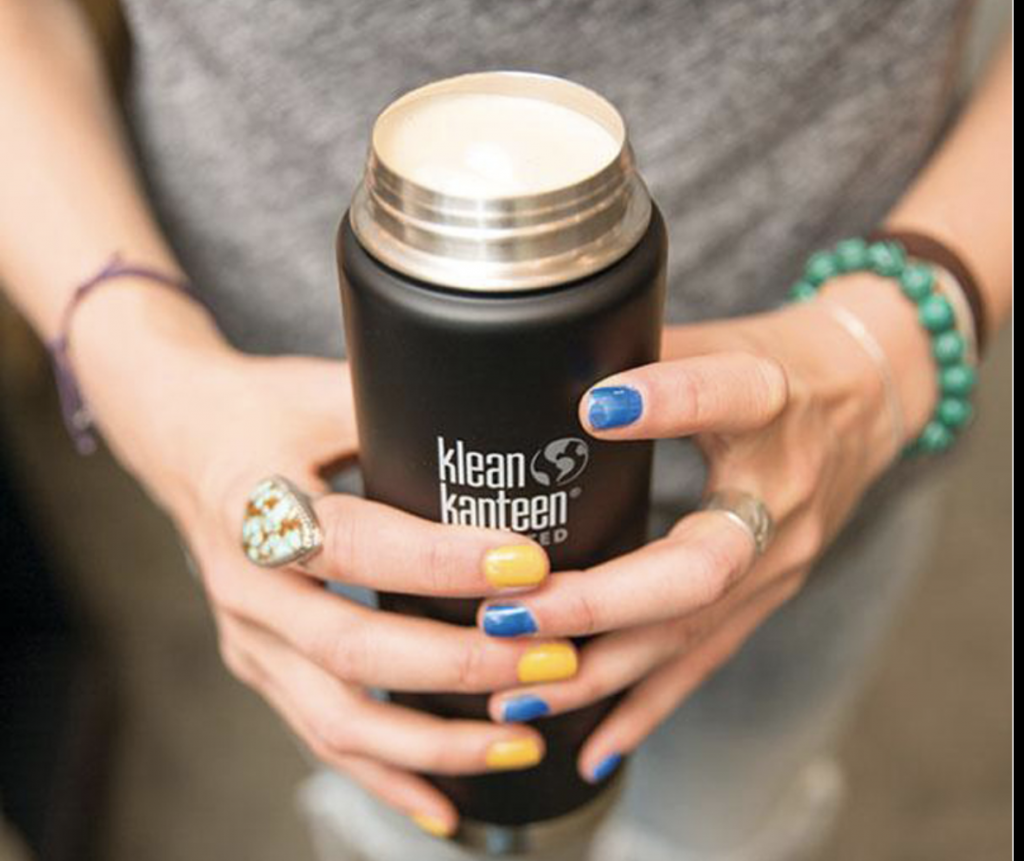 A reusable coffee mug, which is the one of the ultimate sustainable gifts for Christmas
