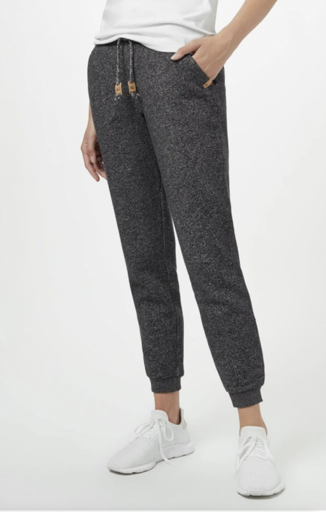 grey organic sweatpants from Tentree
