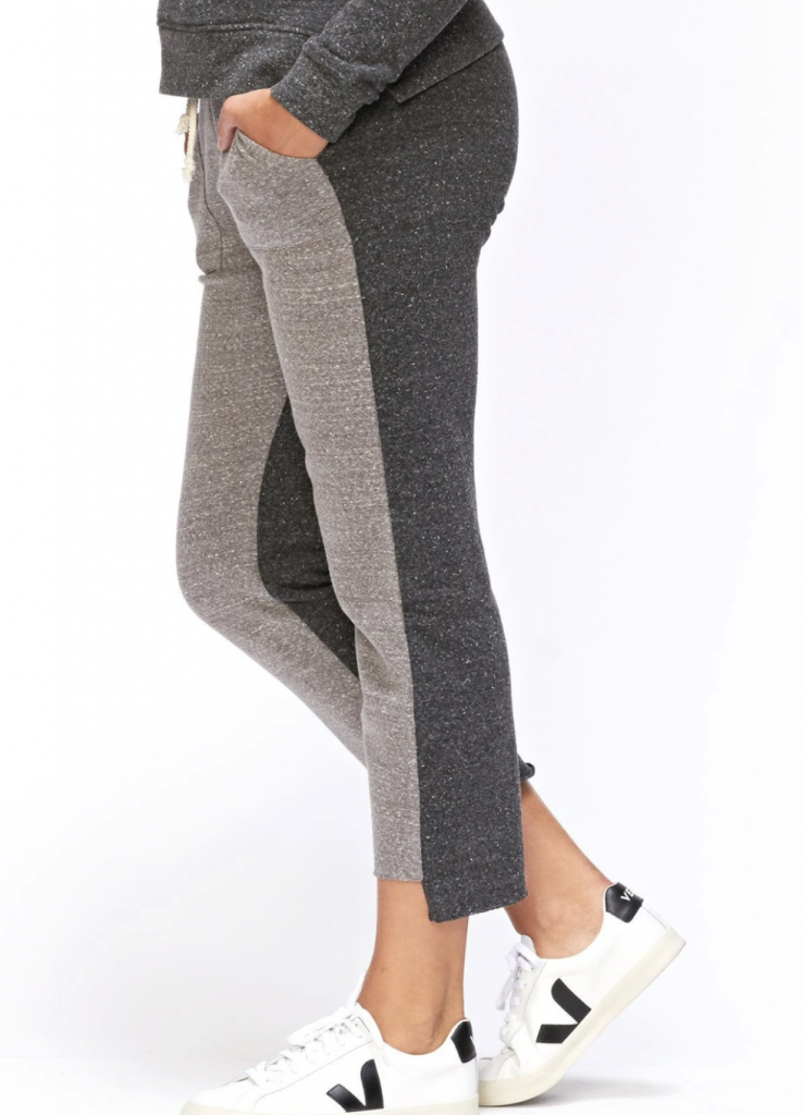 dark and light grey sustainable sweatpants from Threads 4 Thoughts