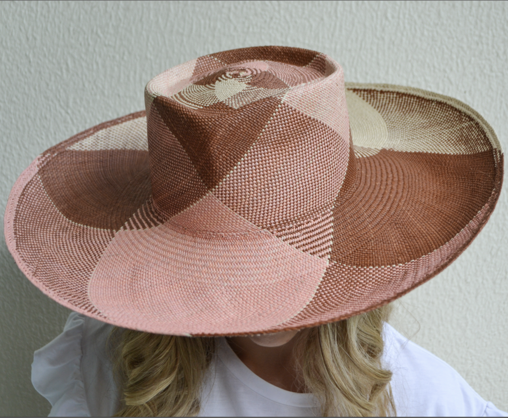 Sustainable summer hat made from straws