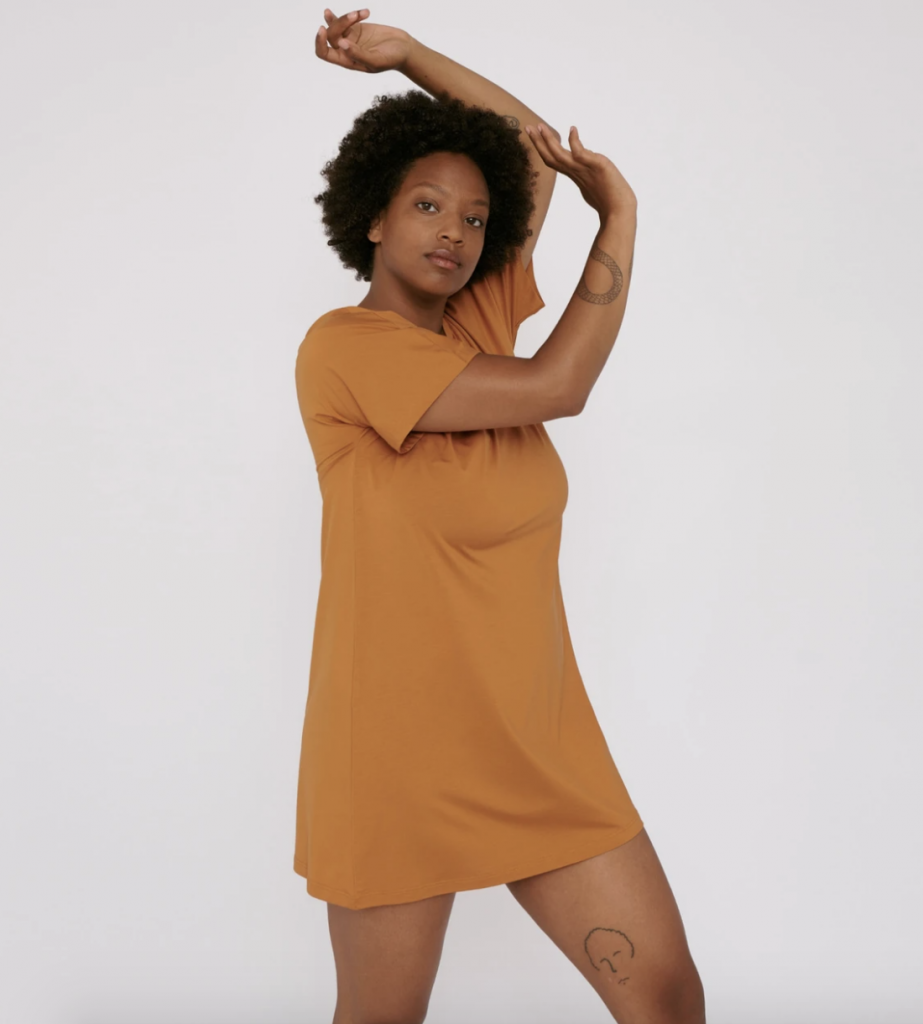 Yellow ethical nightwear
