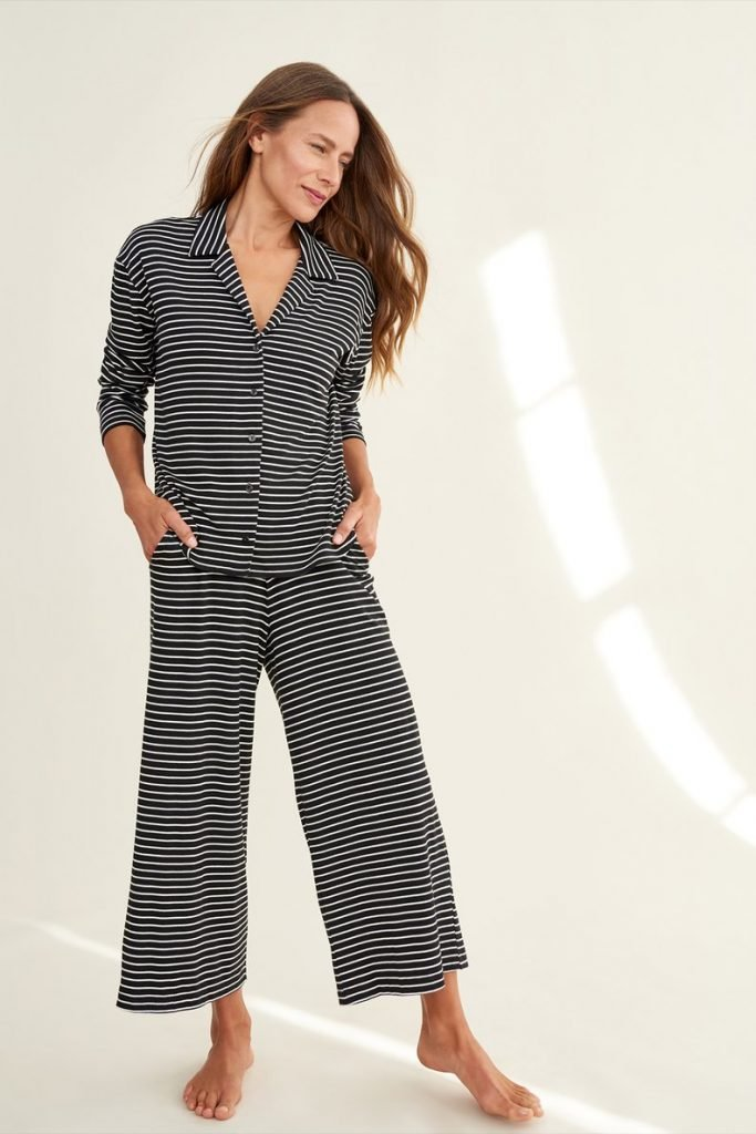 eco-friendly striped pajamas