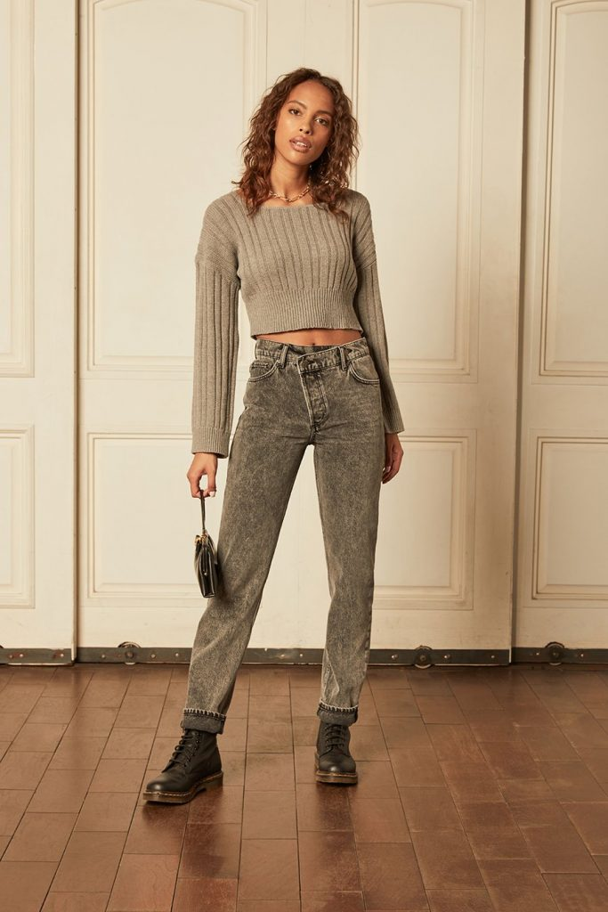 sustainable grey pants