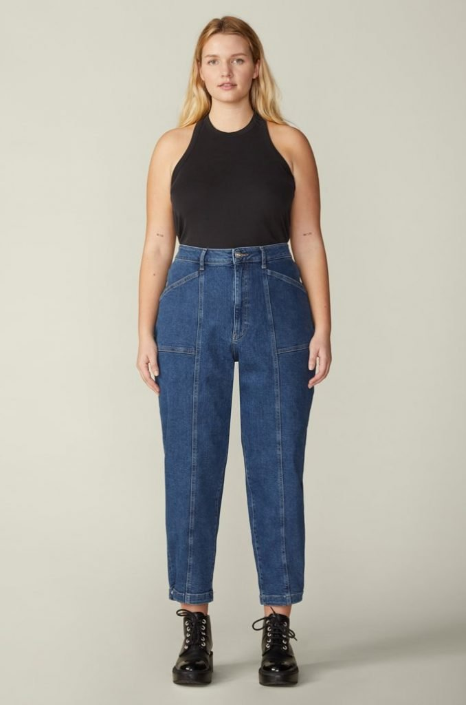size-inclusive ethical jeans