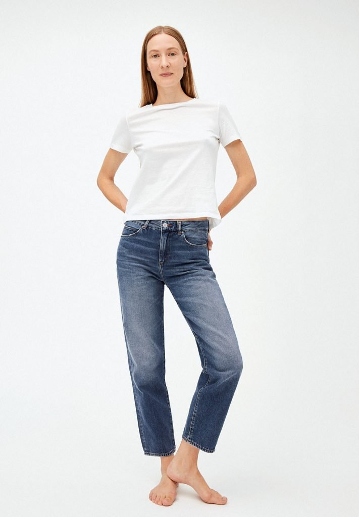 light blue organic jeans