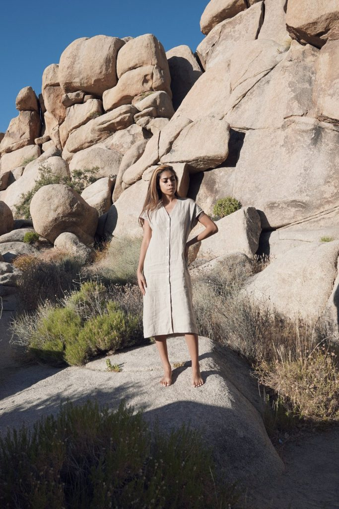 ethical linen dress