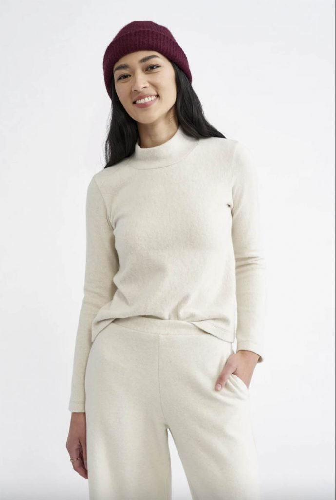 white affordable eco knitwear