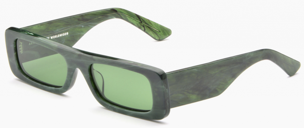 Green ethical sunglasses