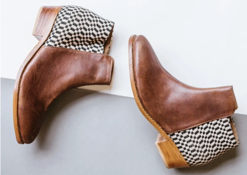 brown fair trade boots from The Root Collective