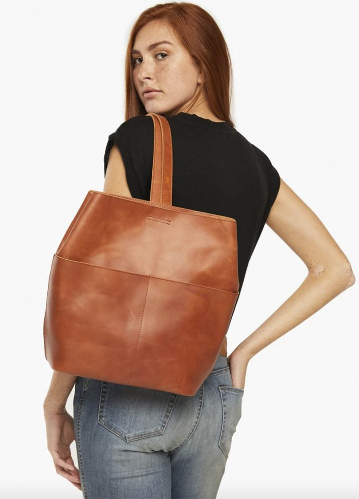 brown leatherbag able