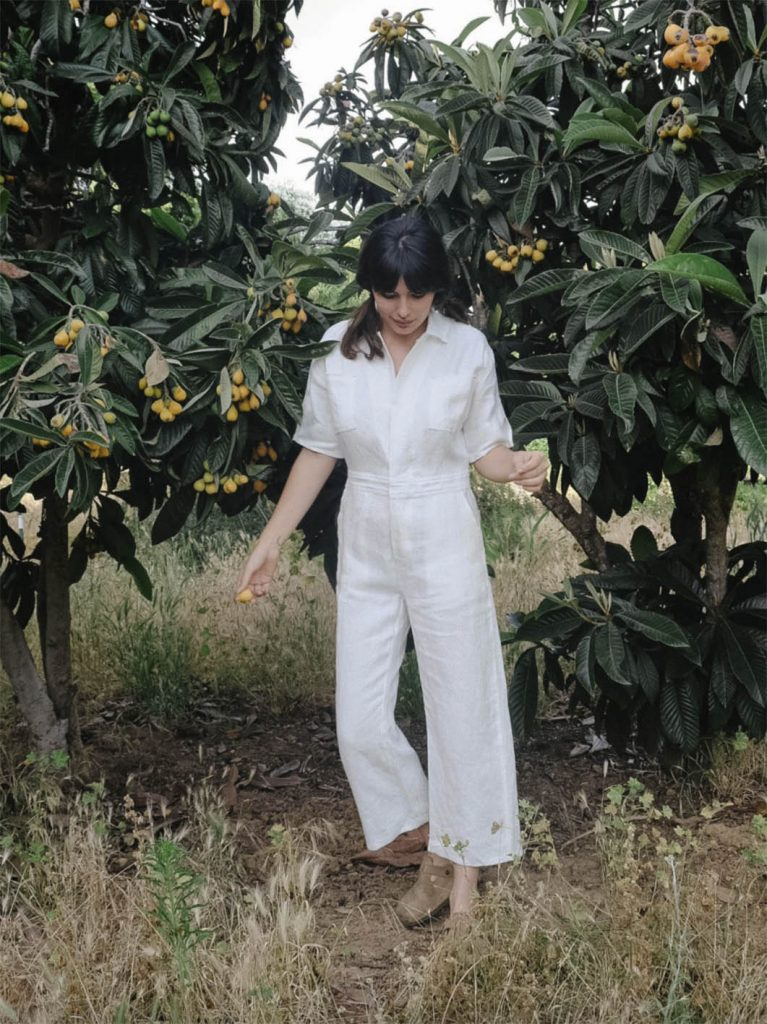 white jumpsuit christy dawn