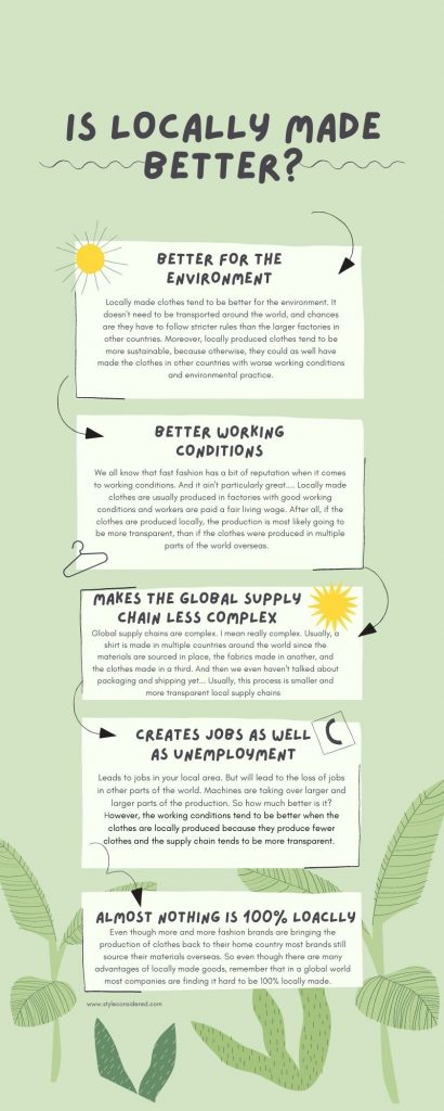 Infographic on wether locally made clothes is better