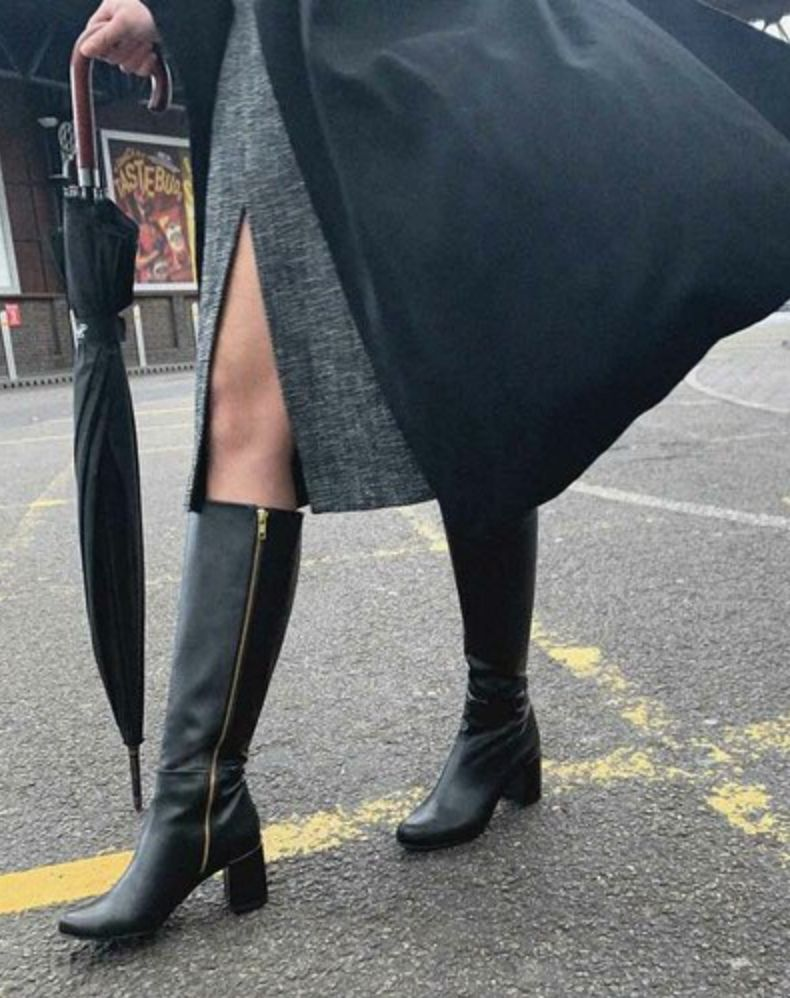 black sustainable boots