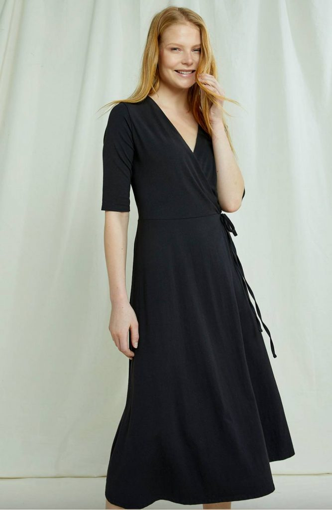black ethical maxi dress people tree