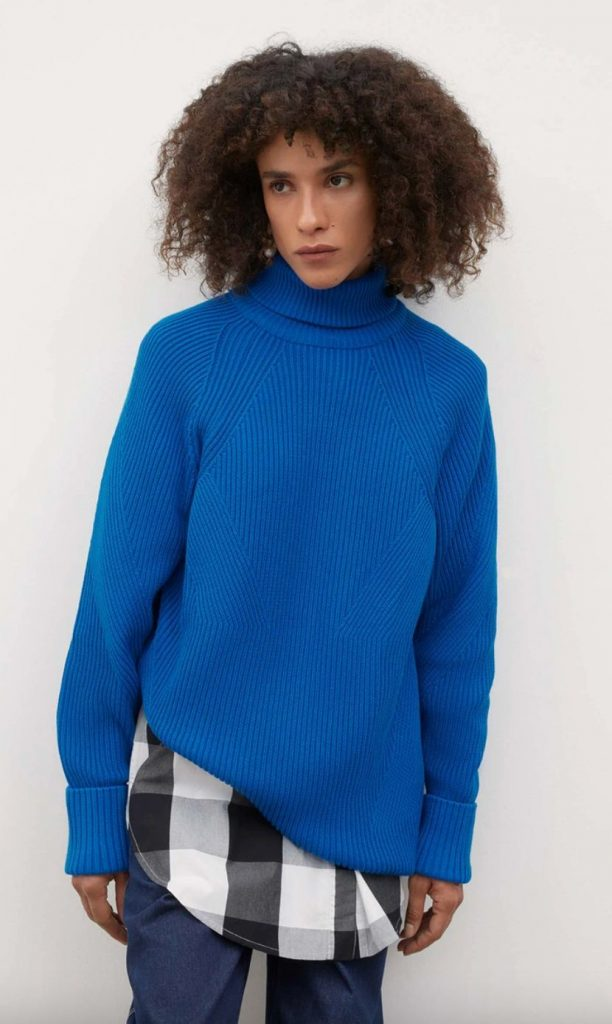 blue ethical sweater