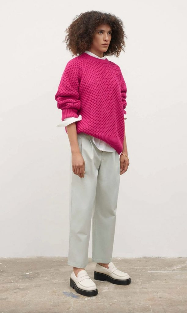 pink eco friendly sweater