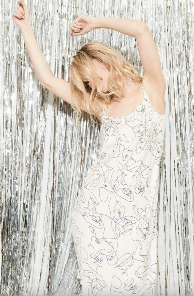 white sustainable maxi dress underprotection